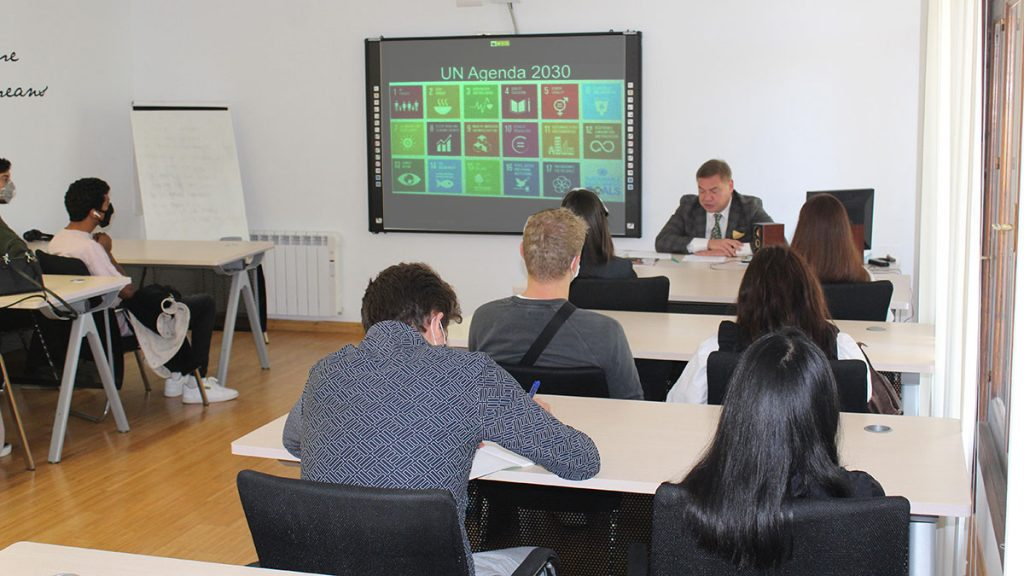 Head of the UNESCO Chair A.N. Borisov delivered a lecture to MIUC students